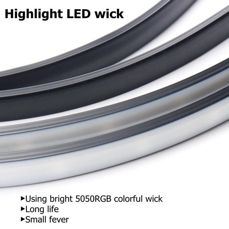 Image 4 - Niscarda 4PCS 12V IP65 Bluetooth App Control RGB LED Strip Under Car 60 90 120cm Tube Underglow Underbody System Neon LightDecorative Lamp   -