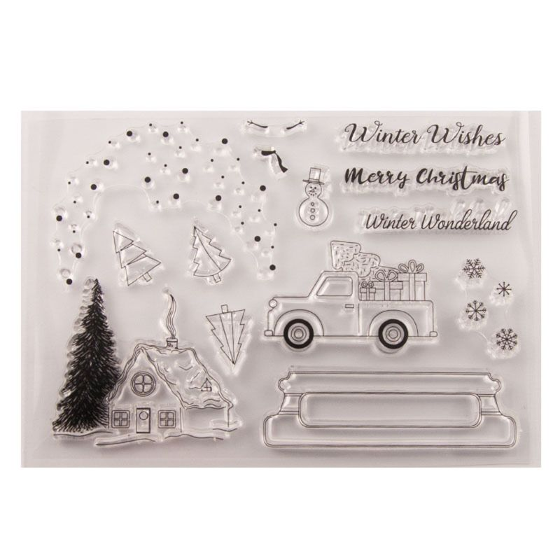 Arbre de noël Silicone clair sceau timbre bricolage Scrapbooking gaufrage Album Photo décoratif papier carte artisanat Art fait main cadeau