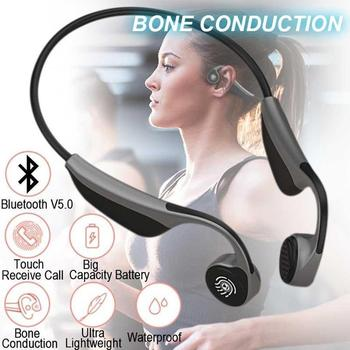 2020 V9 Wireless Bluetooth 5.0 Headphones Bone Conduction Microphone Sport with Headset Earphone Outdoor Headsets E7W6 - discount item  28% OFF Portable Audio & Video