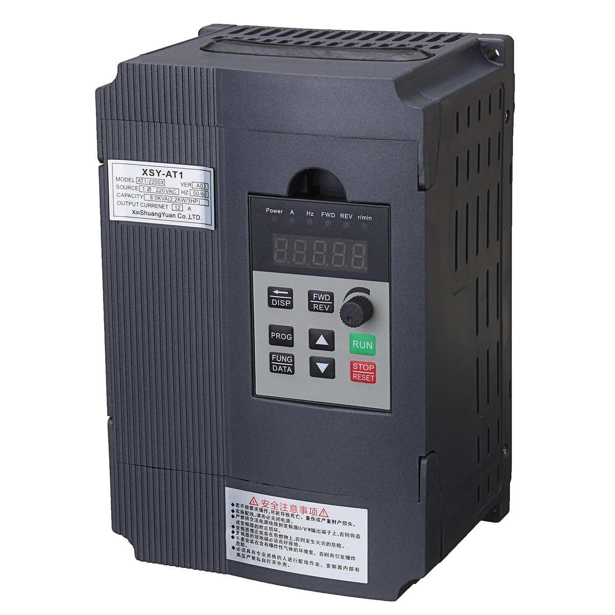 2.2KW 3HP VFD przetwornica częstotliwości przetwornica jednofazowa zmienna częstotliwość falownik falownik VFD prędkość silnika sterowanie PWM