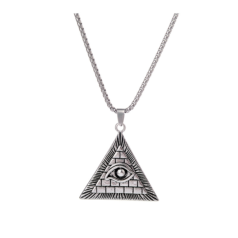 Classic Fashion Lucky Eye of Horus Eye of God Necklace Men's Triangle Amuletjewelry Gift Preferred