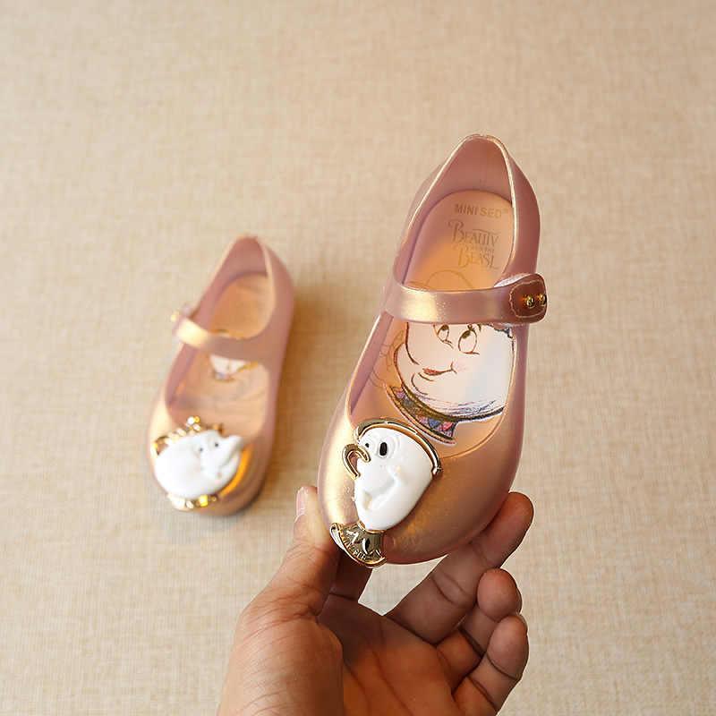 Mini Sed Kids Fashion Jelly Schoenen Kinderen Cartoon Schoonheid En Het Beest Snoep Melissa Schoen Zomer Mode Strand Dragen Sandaal