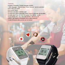 Pager Calling-System Retekess Waiter Restaurant Wireless Watch-Receiver Pager-Customer-Service