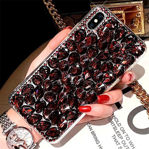 Image 4 - Phone Case Bling Crystal Diamond Rhinestone 3D Colorful Stones Back Cover for iphone 11 12 mini Pro Max XR X 7 8 Plus 6 6s Plus