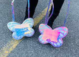 Image 4 - Cute Reflective Laser Butterfly Design Fashion Girls Handbag Shoulder Bag Tote Bag Crossbody Bag Women Casual Clutch Bag Bolsa