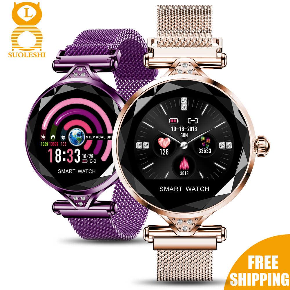 Suoleshi 2020 Lady Smart Watch Fashion Women Watch Heart Rate Monitor Fitness Tracker Women Smartwatch Bluetooth Smart Bracelet Smart Watches Aliexpress