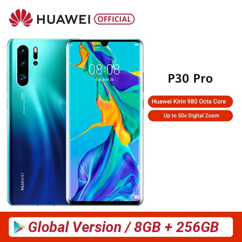 Huawei P30 Pro, 8 ГБ, 256 ГБ, восьмиядерный смартфон Kirin 980, 5-кратный оптический зум, четырехъядерный экран 6,47 дюйма, OLED NFC Промо-Код DS1111 $100-10