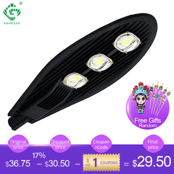 Black LED Street Lights 20W 50W 60W 100W 150W Road Highway Garden Park Street Light 85-265V IP65 Lamp Outdoor Lighting цена 2017