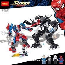 Marvel Avengers Super Heroes Anti Venom Carnage Deadpool Edward Brock Hulk Figure Models Building Blocks Toys For Children