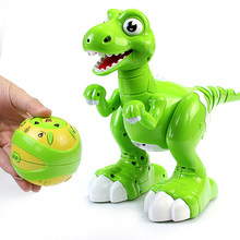 New Smart Remote Control Toys Fog Spray Dinosaur Multifunctional Light Music Dancing Toys Children Intelligent Electric Toys 1(China)