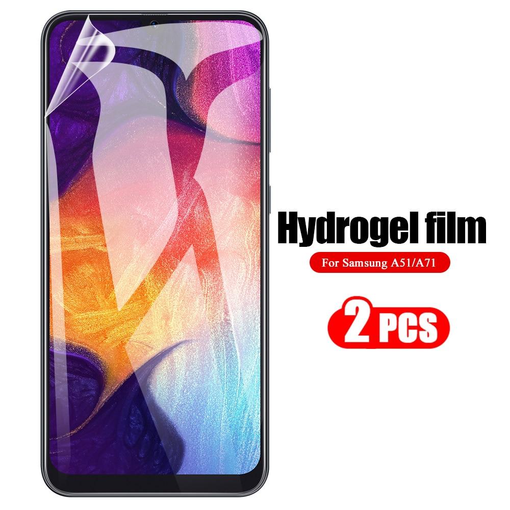 2Pc Hydrogel Film For Samsung Galaxy A30 A40 A50 A51 A71 A70 S For Samsung A11 A21 A31 A41 A515f Lens Camera Screen Protector
