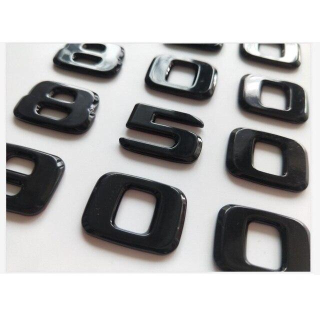 Блестящая черная эмблемы для багажника 450 500 550 580 600 650