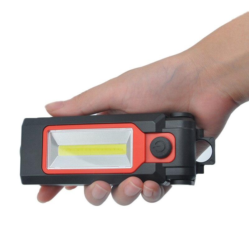 Star Warrior Multi-functional Portable Maintenance Hand Cob Foldable Maintenance Magnet Work Light Outdoor Emergency Camping Lig