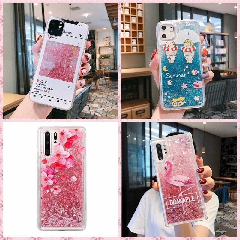 Luxury mobile cover For Xiaomi Max2 Max3 Mix2 Mix2S 5X A1 6X A2 F1 Poco 8 Lite 9 SE quicksand phone case K20 Pro 9T 7A CC9 SE