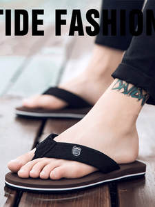 Men Flip-Flops Sandals Casual-Shoes Anti-Slip Beach Summer Hombre Zapatos Wholesale A10