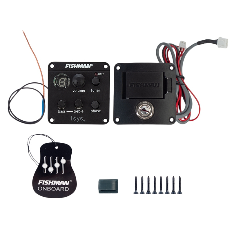 Fishman Isys+Eq Acoustic Guitar Pickups Clip On Sound Hole Pick Up Onboard Preamps Guitar Amplifier Guitarra Accessories