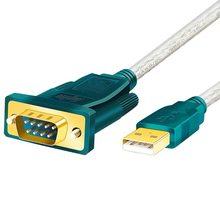 Usb para rs232 db9 com porta serial classe industrial 9 pinos impressora adaptador cabo computador suporta com máquina industrial/mac os