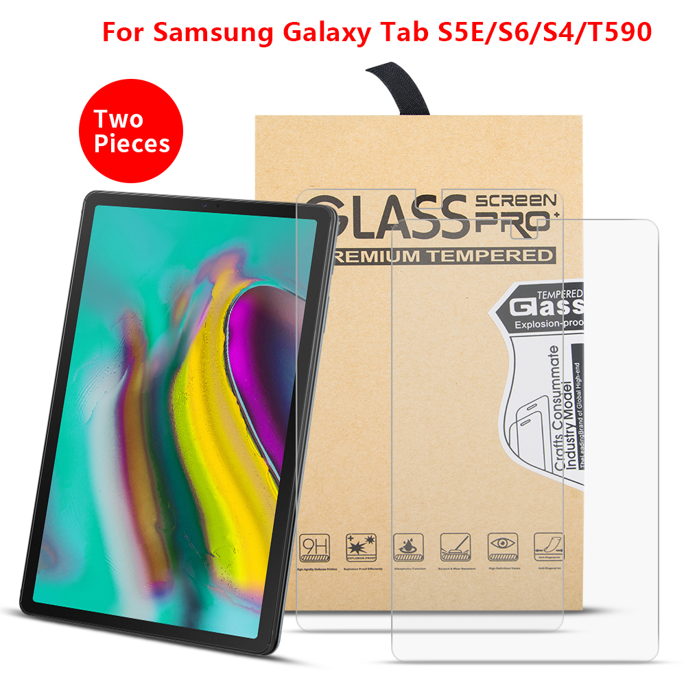 2PCS/Lot Tempered Glass For Samsung Galaxy Tab S5E 10.5 2019 SM-T720/T725 Screen Protector Film For S6 S4 SM-T860 T865 SM-T835