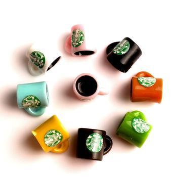 20/10Pcs Resin Coffee Bottle Cups Decoration Crafts Flatback Cabochon Embellishments For Scrapbooking Kawaii DIY Accessories недорого