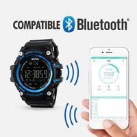 SKMEI Intelligente Della Vigilanza di Sport Degli Uomini di Bluetooth Multifunzione Orologi Fitness 5Bar Impermeabile HA CONDOTTO LA vigilanza digitale Orologio reloj hombre 1227