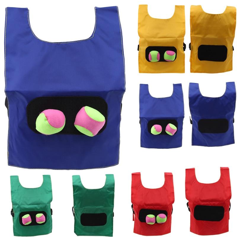 Kids Outdoor School Catch Pull Balls Games Activity Kindergarten Equipment Educational Toys Sports Vest Waistcoat For Children