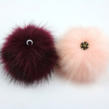 Real Rex Rabbit Fur Ball 10cm Pompom Car Pompon Rabbit Fur Ball for Keychain Fur DIY Bag Charms with Fluffy Bunny Ponpones 1pcs