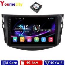 6G RAM/sekiz çekirdek/Android 10.0 araba multimedya oynatıcı DVD Gps Toyota RAV4 2006 2013 DSP ile Carplay IPS radyo Bluetooth RDS