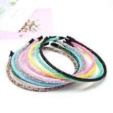 Ncmama – bandeau à paillettes pour filles, 5 pouces, couleur bonbon unie coréenne, accessoires pour cheveux, 5 pièces/lot