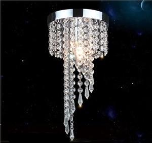 Image 1 - Modern LED Crystal Chandeliers E27 Bulb Led Lamps Living Room Ceiling Chandelier Indoor Lighting Led Lustre Lamp Ceiling Fixture