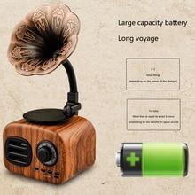 Altavoz AM FM de onda corta Vintage portátil de bolsillo estéreo Mini Radio Bluetooth Retro USB receptor de tarjeta de soporte para el hogar