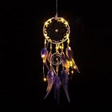 Gris clair rêve attraper Net indien plume suspendus Art cadeau créatif cadeau chambre décoration accessoires nordique capteur de rêves