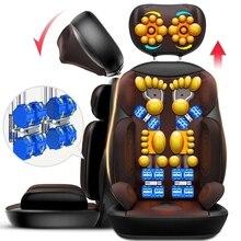 Masaż Shiatsu elektryczny masażer ciała krzesło wielofunkcyjny Relax ugniatanie wibracji poduszka rozgrzewająca Pad szyi powrót Office Home