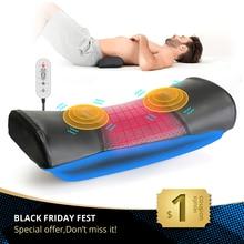 Elektryczny masażer talii kręgosłupa lędźwiowego urządzenie trakcyjne powrót ogrzewanie wibracji poduszka do masażu kompresja powietrza poduszka podtrzymująca Lumba