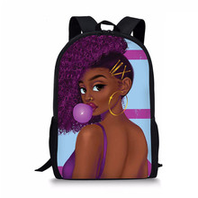 Afro Lady Girl Backpack Africa Beauty Princess Girls Children School Bags For Teenager Brown Bag Book