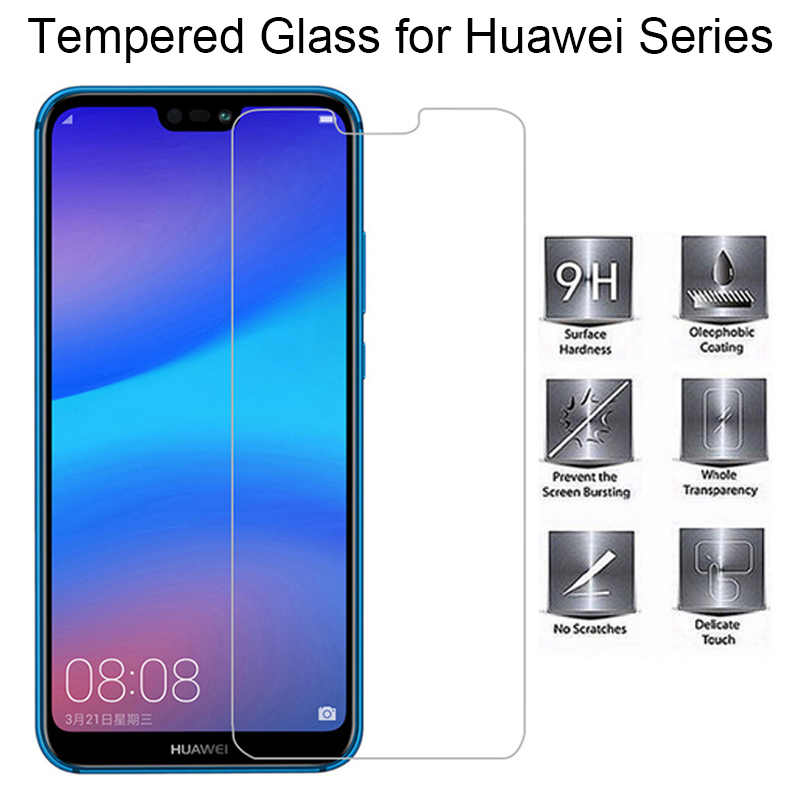 Screen Protector for Huawei P20 Lite P10 Plus P6 P7 Tempered Glass for Huawei P8 Lite 2017 P20 Pro Protective Glass on P9 Light