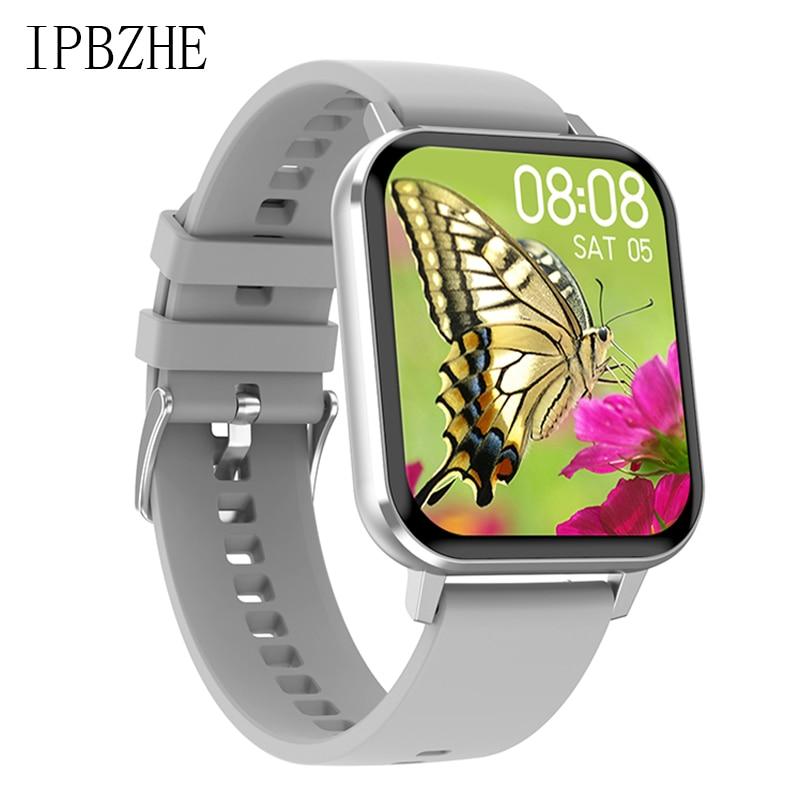 Ipbzhe Смарт-часы для мужчин 2021 Android приборы для измерения артериального давления IP68 ЭКГ Reloj Inteligente умные часы для женщин Смарт-часы для IOS Huawei ...