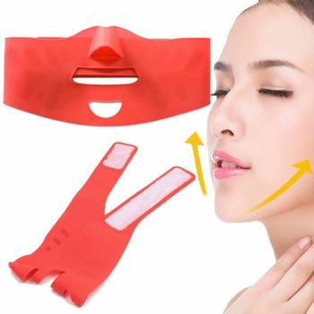 Silikon do wyszczuplania twarzy podnoszenia 3D v-line podnoszenia twarzy bandaż pas odchudzanie twarzy podwójny podbródek pielęgnacja skóry masażysta podnoszenia przyrząd kosmetyczny tanie i dobre opinie NoEnName_Null Brak elektryczne Akrylowe Face-lifting Maszyna wykonana 62cm