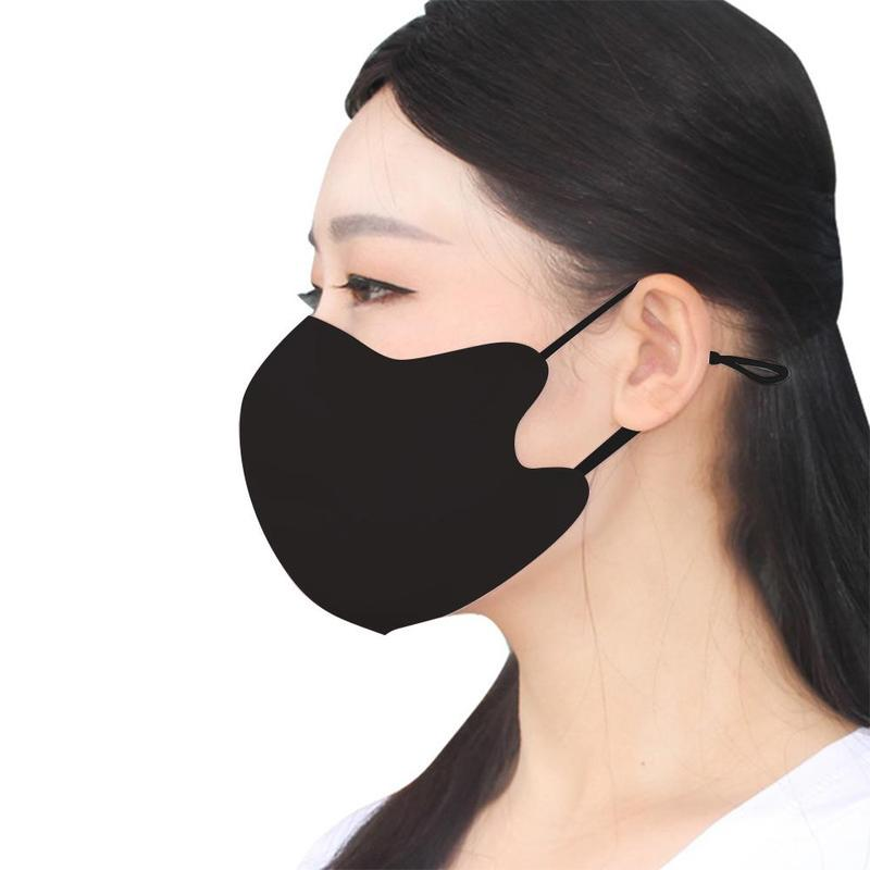 Anti Pollution Black Cotton Mask Reusable Breathable Prevent Saliva Splash Mouth Cover Unisex Face Wind Proof Protective Masks