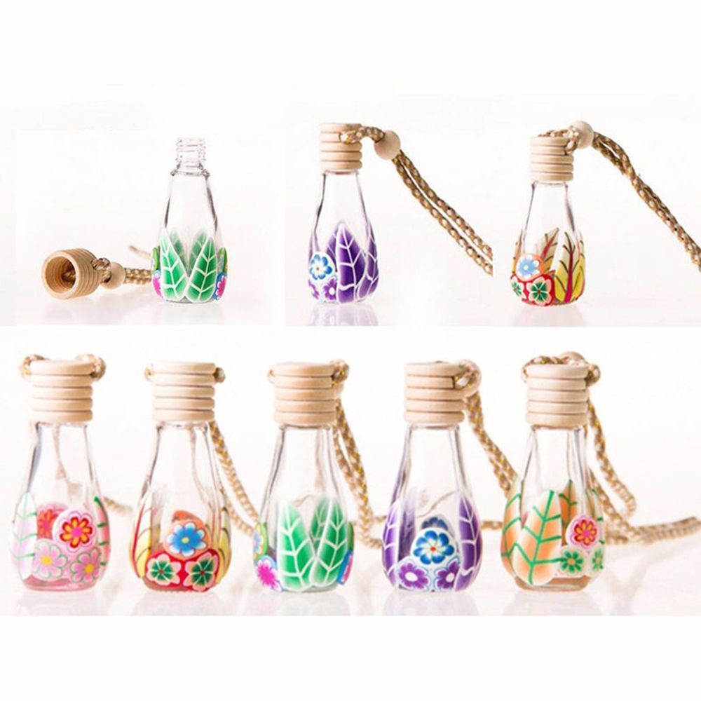 Floral Art Printed Fragrance Car Perfume Pendant car Fragrance Air Freshener For Essential Oils Diffuser Automobiles Ornaments|  - title=