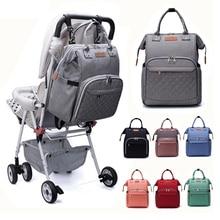 Lequeen сумка для детских подгузников для беременных с тремя бутылочками, большая емкость, сумка для детских колясок на колесиках, рюкзак для мам
