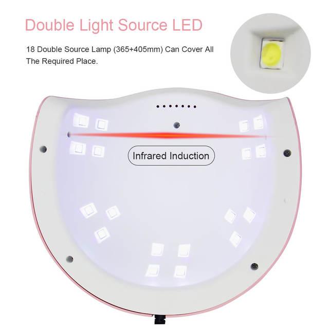 Pink UV LED Nail Lamp