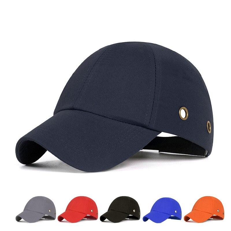 Купить с кэшбэком Anti-Impac Bump Cap Work Safety Helmet ABS Inner shell Baseball Hat Style Protective Hard Hat For Head Protection Top 6 Holes