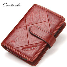 купить Brand Women Wallets 2019 New Vintage Female Genuine Leather Womens Wallet Zipper and Hasp Design With Coin Purses Pocket по цене 1238.14 рублей