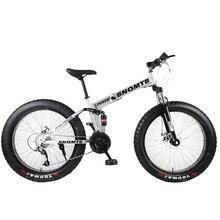 BNQMTB-Bicicleta de Montaña plegable de 26 pulgadas para adultos, bici gruesa de 27 velocidades, Neumáticos súper ancho de 4,0, bicicleta de carretera para hombre