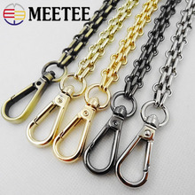 Meetee 40/60/80/100/120/140cm 12mm Width Metal Chain Swivel Clasp Buckle Handbag Hooks Hardware DIY Bag Strap Accessories BF202