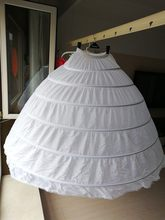 Plus Size Large Steel Wedding Bags 6 Bride Dress Extra Large Sliding Steel White 6 Hoops Petticoat Crinoline Slip Petticoat(China)