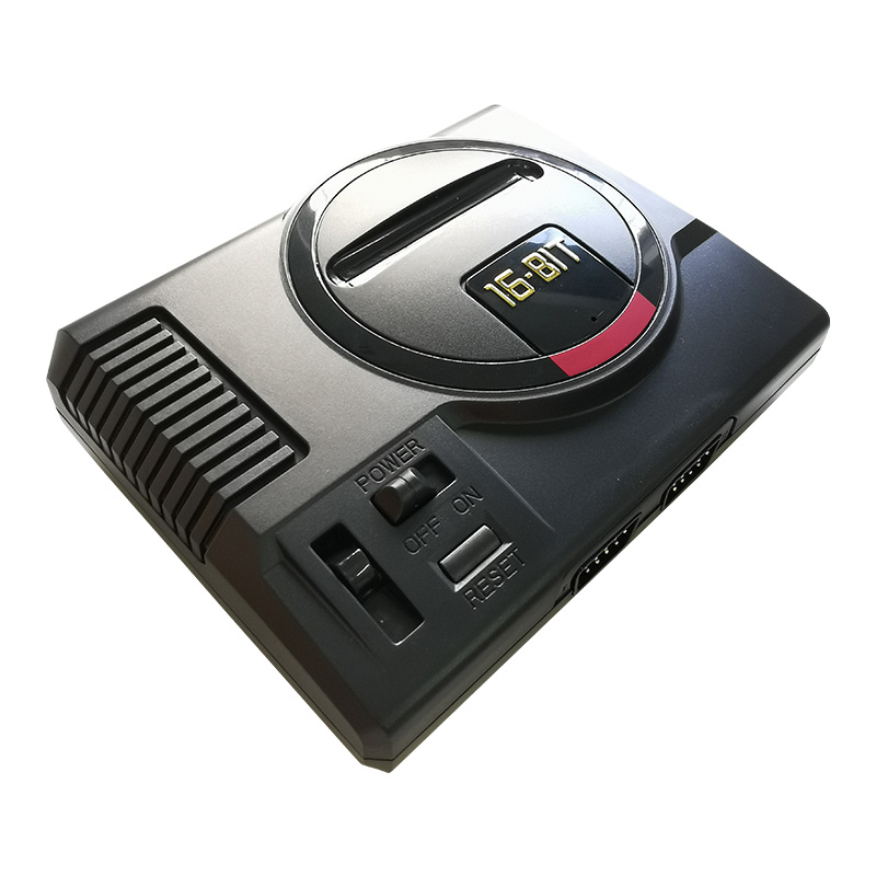 SEGA Console 16 Bit Genesis System 216 Games 2 Controllers New Model RCA Complex many games battery save