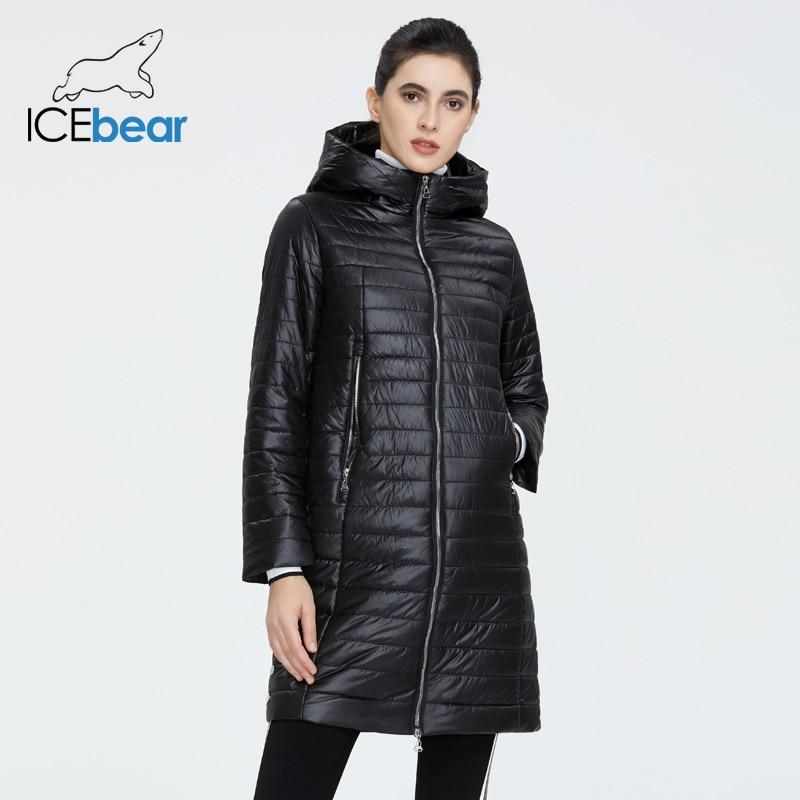 ICEbear 2020 New Female Coat Quality Women Jacket Fashion Casual Women Jacket Spring Women Parkas Brand Women Clothing GWC20687I