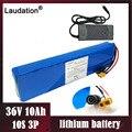 Laudation 36V10ah литиевая батарея электрического велосипеда 10S3p42V 18650 Аккумулятор для 500W E велосипедного ремня/скутера с зарядным устройством