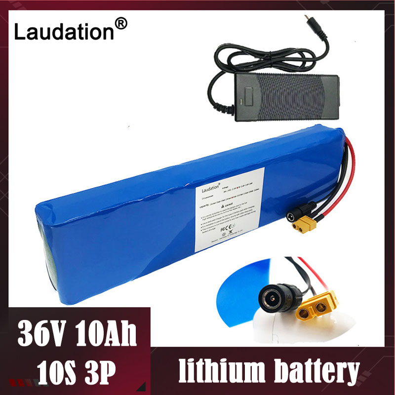 laudation 36V10ah electric bicycle lithium battery 10S3p42V <font><b>18650</b></font> case battery pack for 500W E bicycle belt/Scooter With charger image